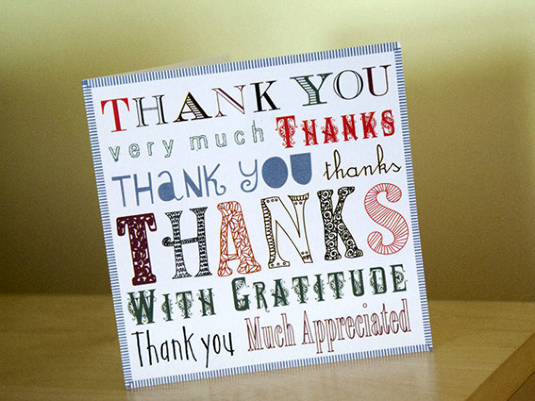 thank you, card