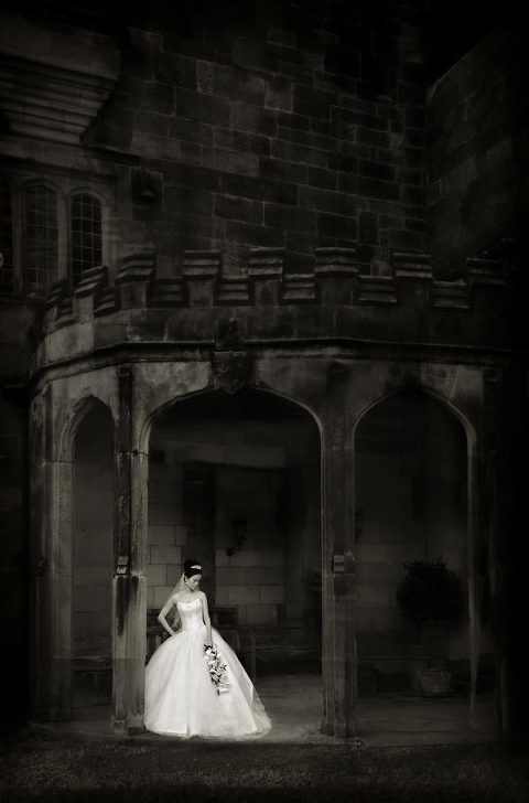 bride, wedding, Ripley Castle, Harrogate