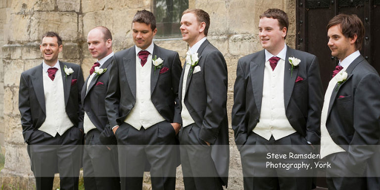 groomsmen, St Stephen's Church, Acomb