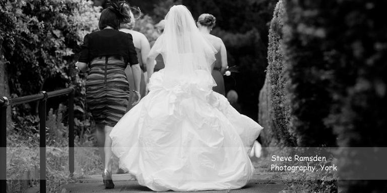 Bride, wedding, St Stephen's Church, Acomb
