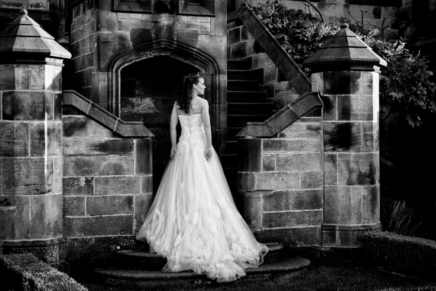 bride, Allerton Castle, wedding venue, North Yorkshire
