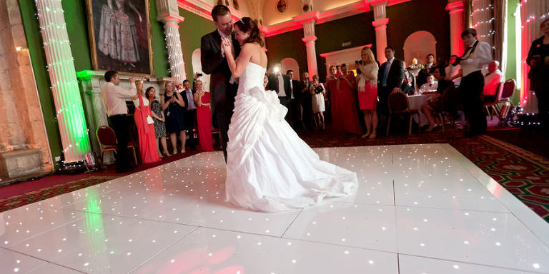 wedding, first dance, dance floor, sparkling