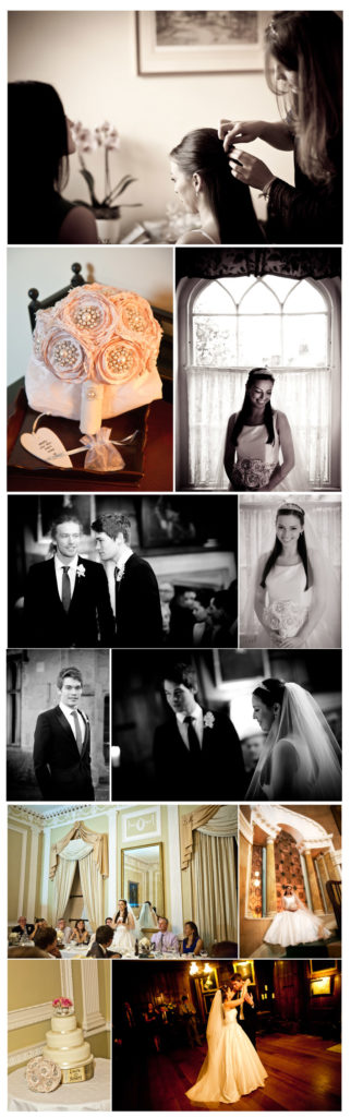 wedding, photography, Ripley Castle, library