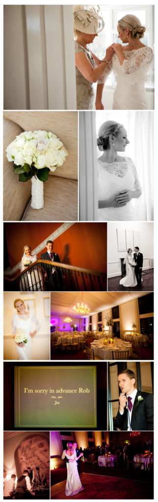 wedding photo selection at Rise Hall