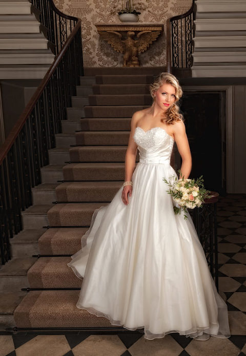 Wedding dress by Qiana