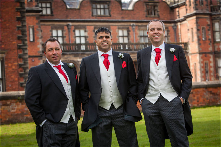 Groomsmen at Capesthorne Hall