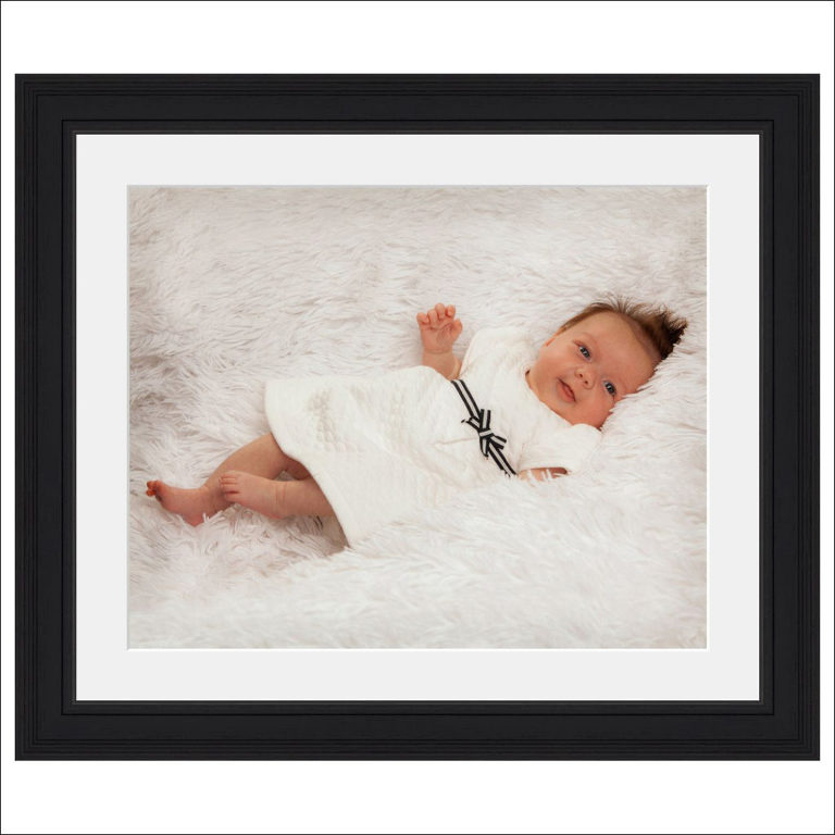 framed baby photo girl