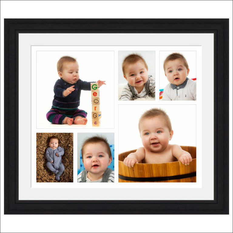 baby photo montage framed boy